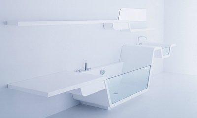 Ультрасовременный дизайн ванной комнаты от UsTogether в трех вариантах: Ebb, Line и Loop