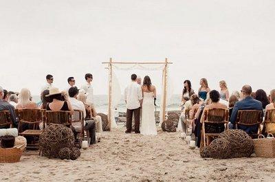 Символическая свадьба на пляже