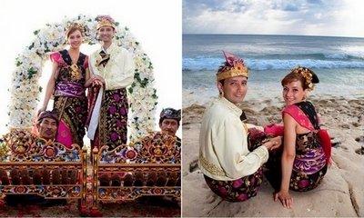 Свадьба на пляже в национальных костюмах
