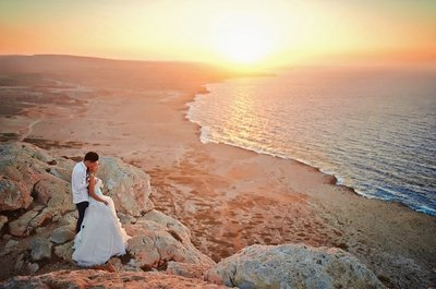 «Велосипедная» свадьба на пляже