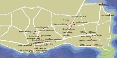 Карта отелей Бэйдайхэ