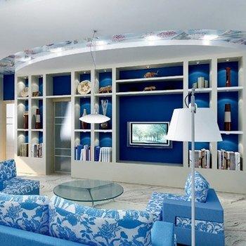 Красота интерьера в синем стиле