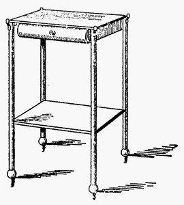 Прикроватный столик с ящиком