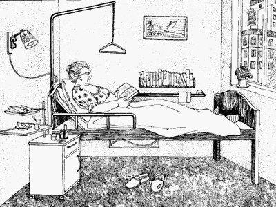 Схематичное изображение комнаты больного