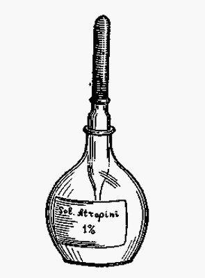 Склянка Штрошейна для хранения лекарств в глазном кабинете