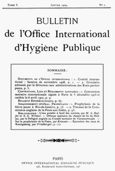 Журнал «Office internationale d'Hygiene publique» выпускается с 1908 года