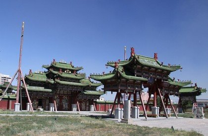 Ламаистский монастырь в Монголии