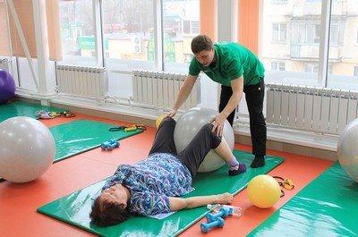 Лечебная гимнастика у больной гемофилией