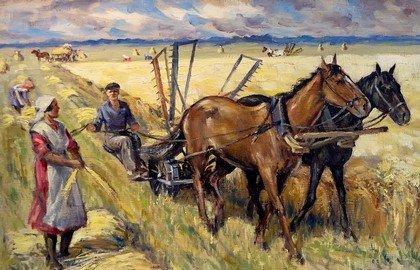 Уборочная работа в поле (картина)
