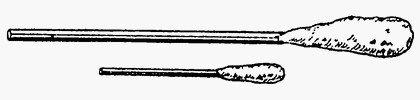 Тампон ватный, надетый на палочку