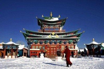 Ламский монастырь в Монголии