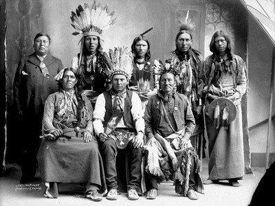 Американские индейцы в резервации Пуяллуп
