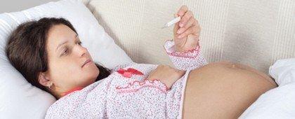 Заболевания у беременных, протекающие с большим повышением температуры