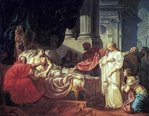 Картина «Врач Эразистрат обнаруживает причины болезни Антиоха»