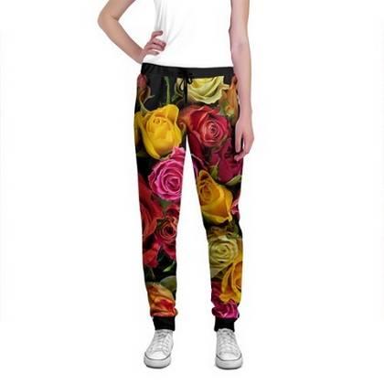 штаны с цветами