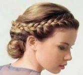 Свадебная прическа - греческая коса