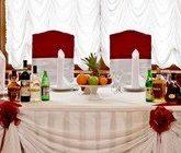 Очередность блюд на свадебном столе